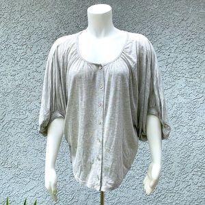 Testament Striped Boho Batwing Blouse Shirt 👚
